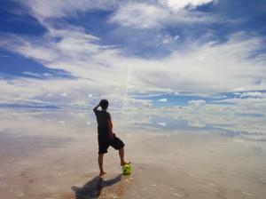 南米ボリビアのウユニ塩湖