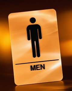 Sign for Men's Restroom