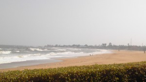 チェンナイ近辺の海辺