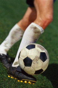Foot Volleying Soccer Ball